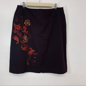 Worthington Woman's Skirt Size 18 Brown Floral
